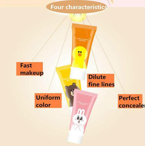 [35% OFF] Cute LINE Bear, Duck & Rabbit Collagen Moisturising BB&CC Cream Concealer Foundation Makeup - Neko Suki,
