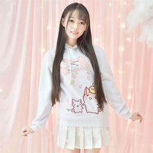 [35% OFF] Kawaii Harajuku Cat Hoodie Made With 100% Organic Cotton PLUS SIZE AVAILABLE - Neko Suki,