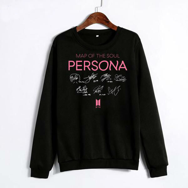 [50% OFF] Kpop BTS『Map of the Soul: Persona』Member Signature Sweater - Neko Suki,