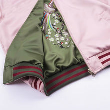"[40% OFF] ""Okuma Shokai ノーキルト"" Yokosuka Sukajan スカジャン Rising Phoenix Embroidery Reversible Double Sided Satin Bomber Jacket - Neko Suki,"