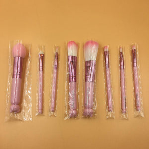 [25% OFF] Hello Kitty 8 Pieces Cosmetic Brush Set [Comes With Box Mirror] - Neko Suki,