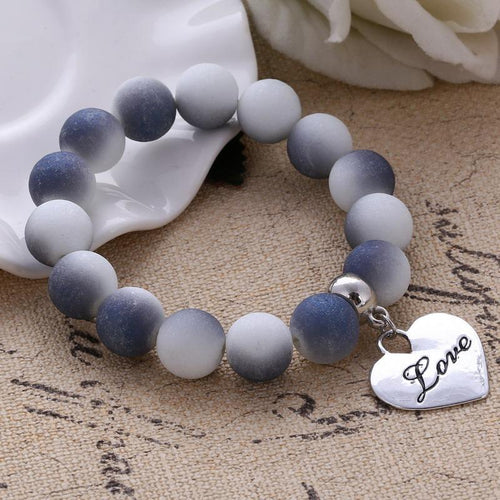 [FREE!] LOVE Moonrock Beads Bracelet [Cover Shipping Only]. - Neko Suki,