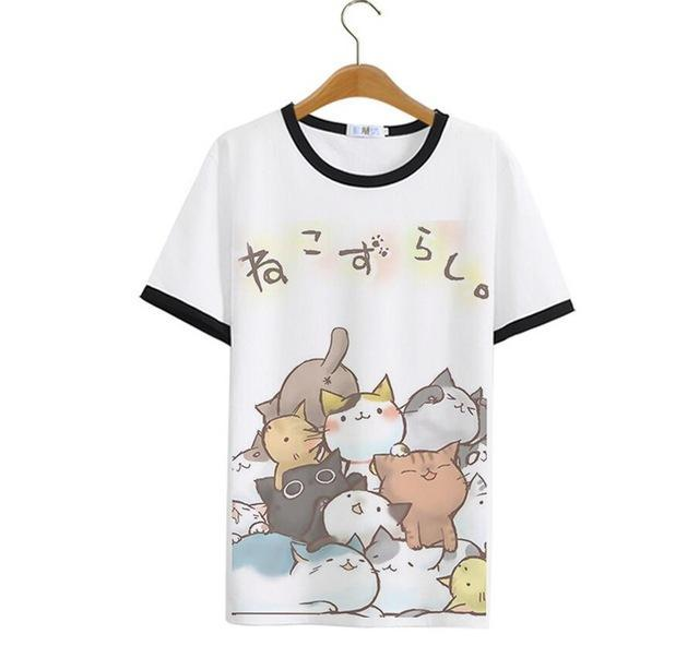 Neko Atsume Unisex Cotton T-Shirt - Neko Suki,