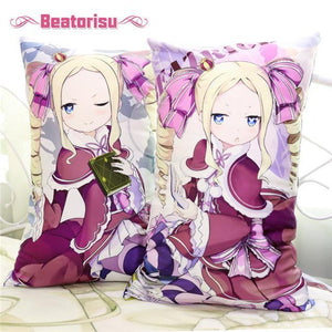 Anime Dakimakura (抱き枕) Re:Zero Body Pillow: Emilia, Ram & Rem, Priscilla. Plush OR 2WAY Fabric 35x55cm & 45x70cm - Neko Suki,