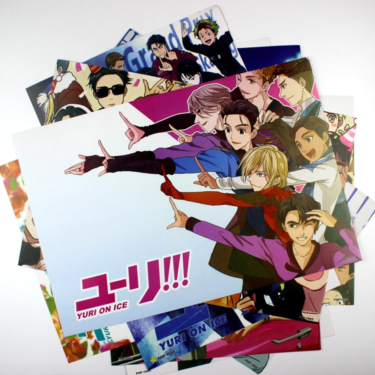 8 Pieces*(42x29cm) Yuri!! On Ice High Quality Vinyl Anime Posters Wallpaper - Neko Suki,