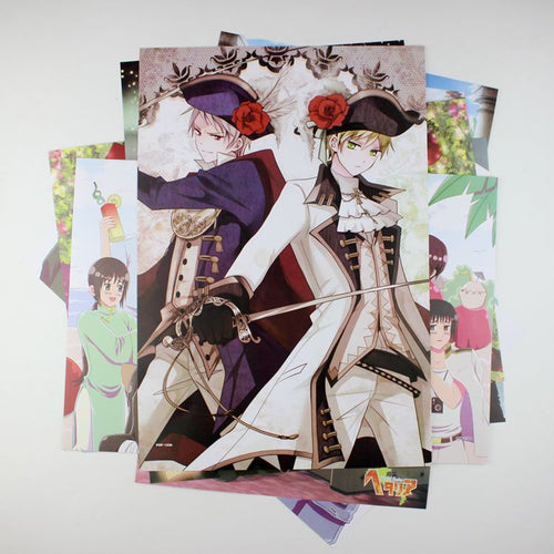 8 Pieces*(42x29cm) Hetalia Anime High Quality Vinyl Anime Posters Wallpaper - Neko Suki,