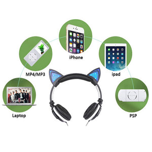 [40% OFF] Harajuku Toy Shop LED Glowing Cat Ear Headphone - Neko Suki,
