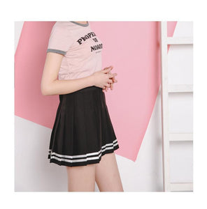 [40% OFF] Japanese Style Vintage High Waist Pleated Skirt - Neko Suki,