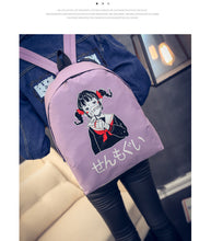 [35% OFF] Anime High School Girl Graphic Printed Canvas Backpack - Neko Suki,
