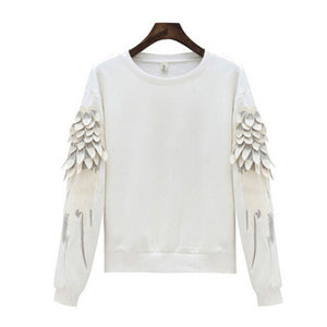 "[25% OFF] ""ADER Error"" Korean 한글 Boyfriend Style Thick Premium Cotton Sweatshirt With Solid Fibre Knitted Embroidery Wings - Neko Suki,"