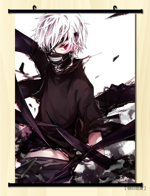 [35% OFF] (40*60cm) Tokyo Ghoul Version 2.0 High Quality Roll up Canvas Anime Poster - Neko Suki,