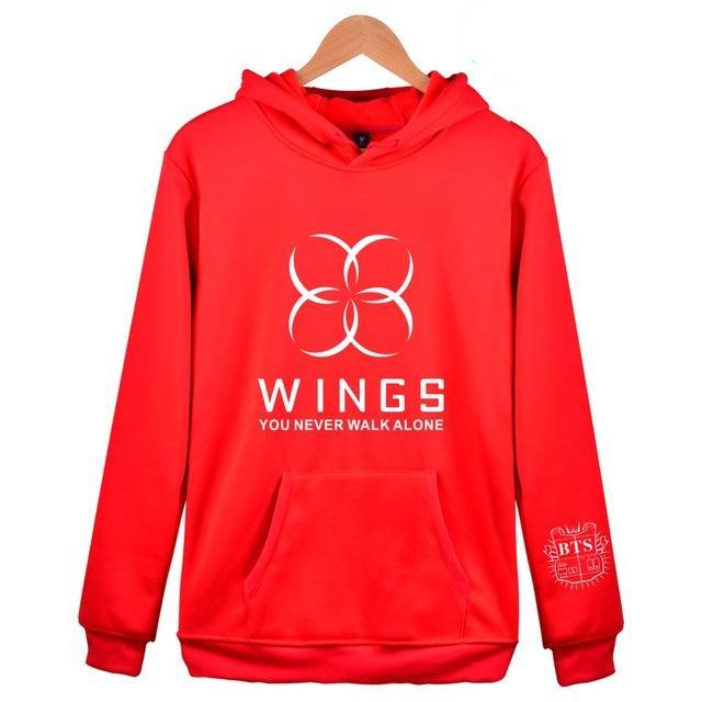 [50% OFF] Kpop BTS 'Wings' You Never Walk Alone Hoodie - Neko Suki,