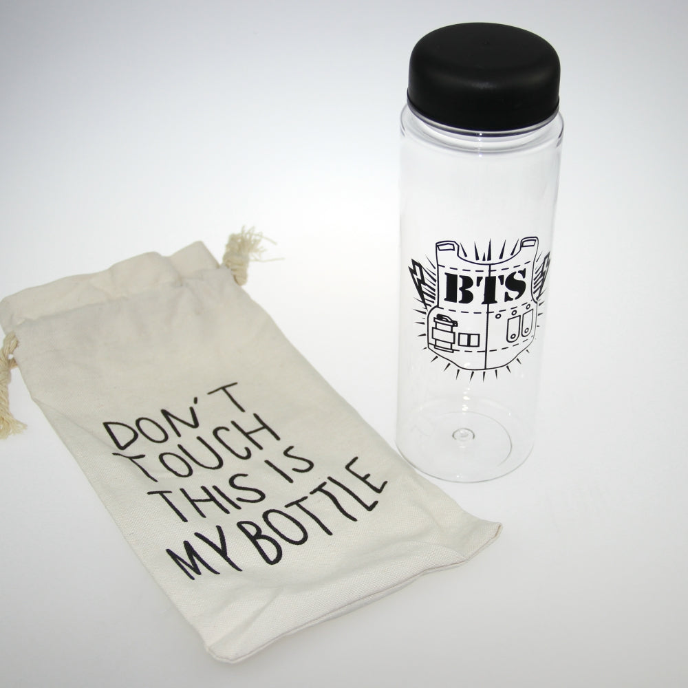 [50% OFF] Kpop BTS Water Bottle Comes With A