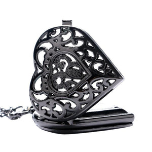 [30% OFF] Steampunk Black Heart Pocket Watch - Neko Suki,