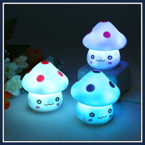 [25% OFF] Color Changing LED Mushroom Toy Night Bed Lamp - Neko Suki,