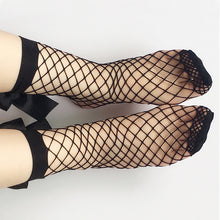 [FREE!] Harajuku Women Fishnet Ankle Ribbon Socks. [Cover Shipping Only]. - Neko Suki,