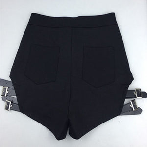 "[40% OFF] ""ADER Error"" Sexy Korean 한글 Seductive Open Thigh High Waist Leather Belt Strap Shorts - Neko Suki,"