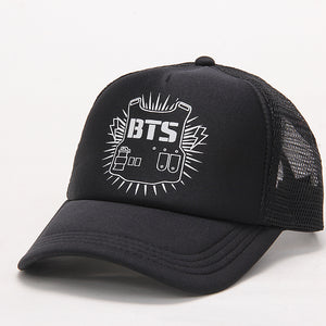 [50% OFF] Kpop BTS Logo Adjustable Size Baseball Cap. - Neko Suki,