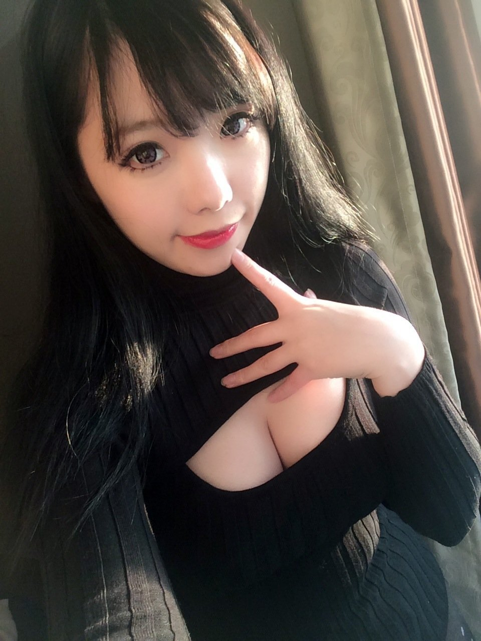 [40% OFF] Sexy Japanese Open Chest Cleavage Knitted Sweater - Neko Suki,