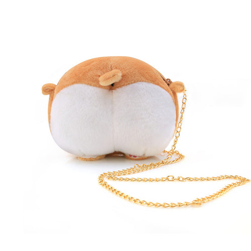 Kawaii Corgi Doggy Butt Plush Shoulder Bag - Neko Suki,