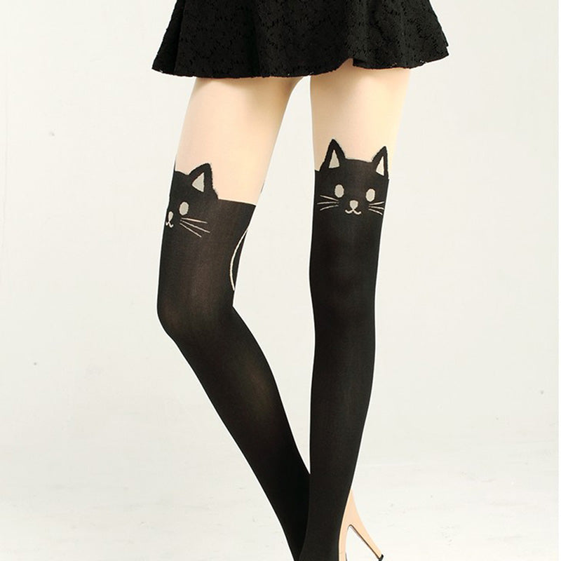 1efcd1b8b FREE!!] Harajuku Kawaii Cat Tail Knee High Socks [Cover Shipping ...