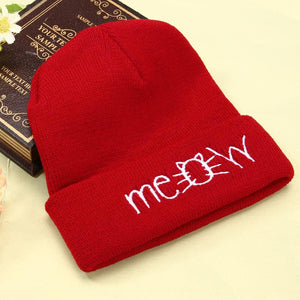 [FREE!] Kawaii Cotton 'Meow' Beanie With 4 Colours [Cover Shipping Only]. - Neko Suki,