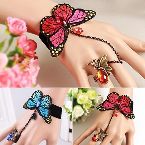 [FREE!!] Butterfly Bracelet with Chain Ring [Cover Shipping Only]. - Neko Suki,