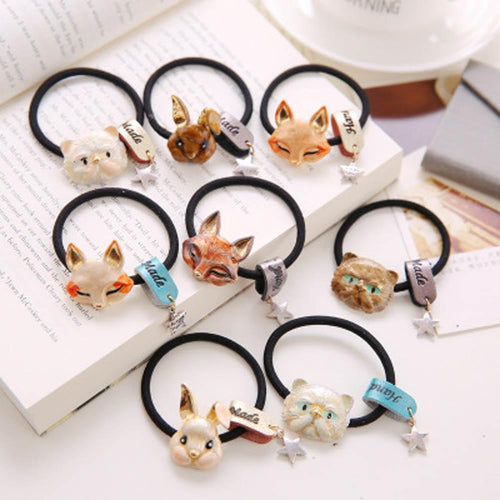 [FREE!!] Cute Rabbit Fox Cat Bows Tie Elastic Hairband [Cover Shipping Only]. - Neko Suki,