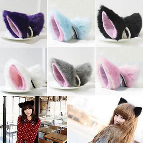 Kawaii Japanese Cat Ear Hairband With Detachable Bell - Neko Suki,
