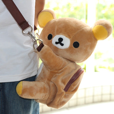 [Harajuku Toy Shop] Kawaii Rilakkuma Plush Cross Shoulder Messenger Bag - Neko Suki,