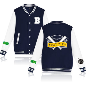 [50% OFF] Kpop BTS ARMY ZIP Baseball Jacket - Neko Suki,