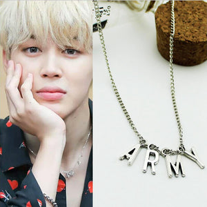 [FREE!] Kpop BTS 'Jimin's ARMY Stainless Steel Necklace [Cover Shipping Only]. - Neko Suki,
