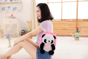 [Harajuku Toy Shop] Kawaii Panda Soft Plush Cotton Stuffed Mini Backpack - Neko Suki,