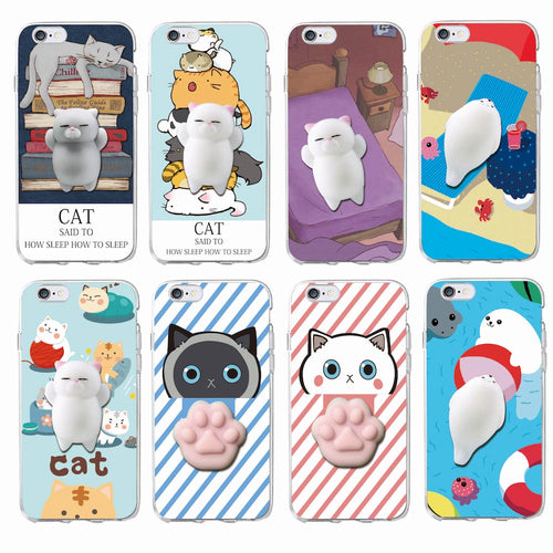 [BUY 1 GET 1 FREE] Cute Colourful Squishy Kitty 3D Silicon Phone Case for iPhone - Neko Suki,