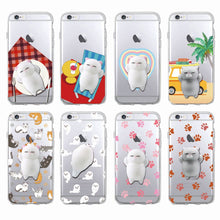 [BUY 1 GET 1 FREE] Cute Transparent Squishy Kitty 3D Silicon Phone Case for Samsung - Neko Suki,