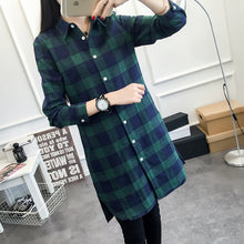"[25% OFF] ""NANING9"" Korean 한글 Long Plaid Shirt Made with 100% Premium Cotton - Neko Suki,"