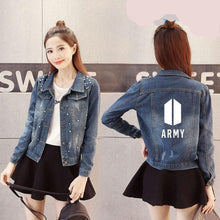 [50% OFF] Kpop BTS 'Love Yourself' Slim Fit Denim Jacket - Neko Suki,