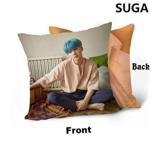 "[50% OFF] Kpop BTS 40*40CM (16""x16"") 'Love Yourself' HD Double Sided Pillow Case - Neko Suki,"