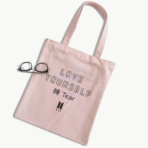 "[50% OFF] Kpop BTS ""Love Yourself"" Premium Cotton Tote Bag - Neko Suki,"