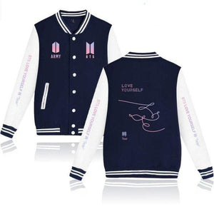 "[50% OFF] Kpop BTS ""Love Yourself 轉 'Tear"" 'Y' 'O' 'U' 'R' Version Bomber Jacket. - Neko Suki,"