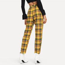 [25% OFF] Ultra Comfort Cotton Stretch Yellow Plaid Leggings - Neko Suki,