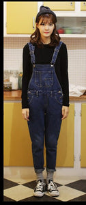 "[35% OFF] ""STYLENANDA"" Variety Choices Premium Cotton Denim Dungarees - Neko Suki,"