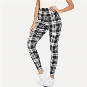 [25% OFF] Ultra Comfort Cotton Stretch Black Plaid Leggings - Neko Suki,