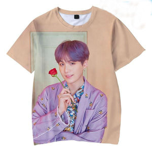 [50% OFF] Kpop BTS『Map of the Soul: Persona』Album Photo T-Shirt - Neko Suki,