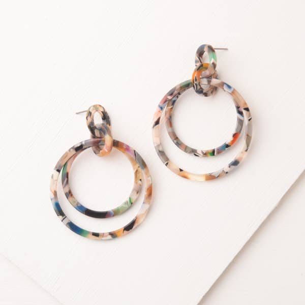 Multi-colored Resin Hoops