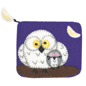Felt Coin Purse - Night Owls Handmade and Fair Trade