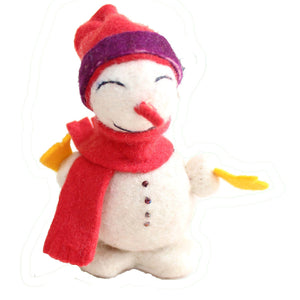 Snowman Felt Holiday Ornament - Silk Road Bazaar (O)