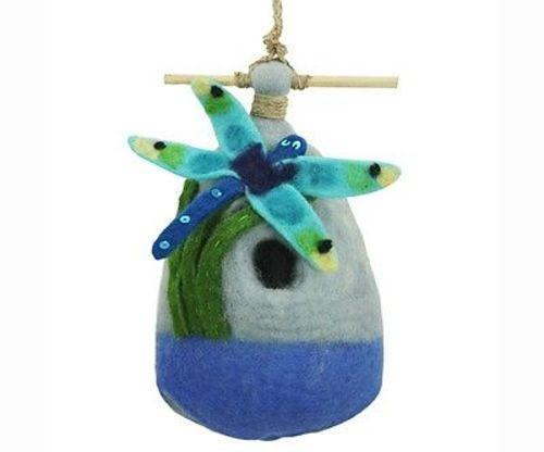 Felt Birdhouse - Big Dragonfly Handmade and Fair Trade