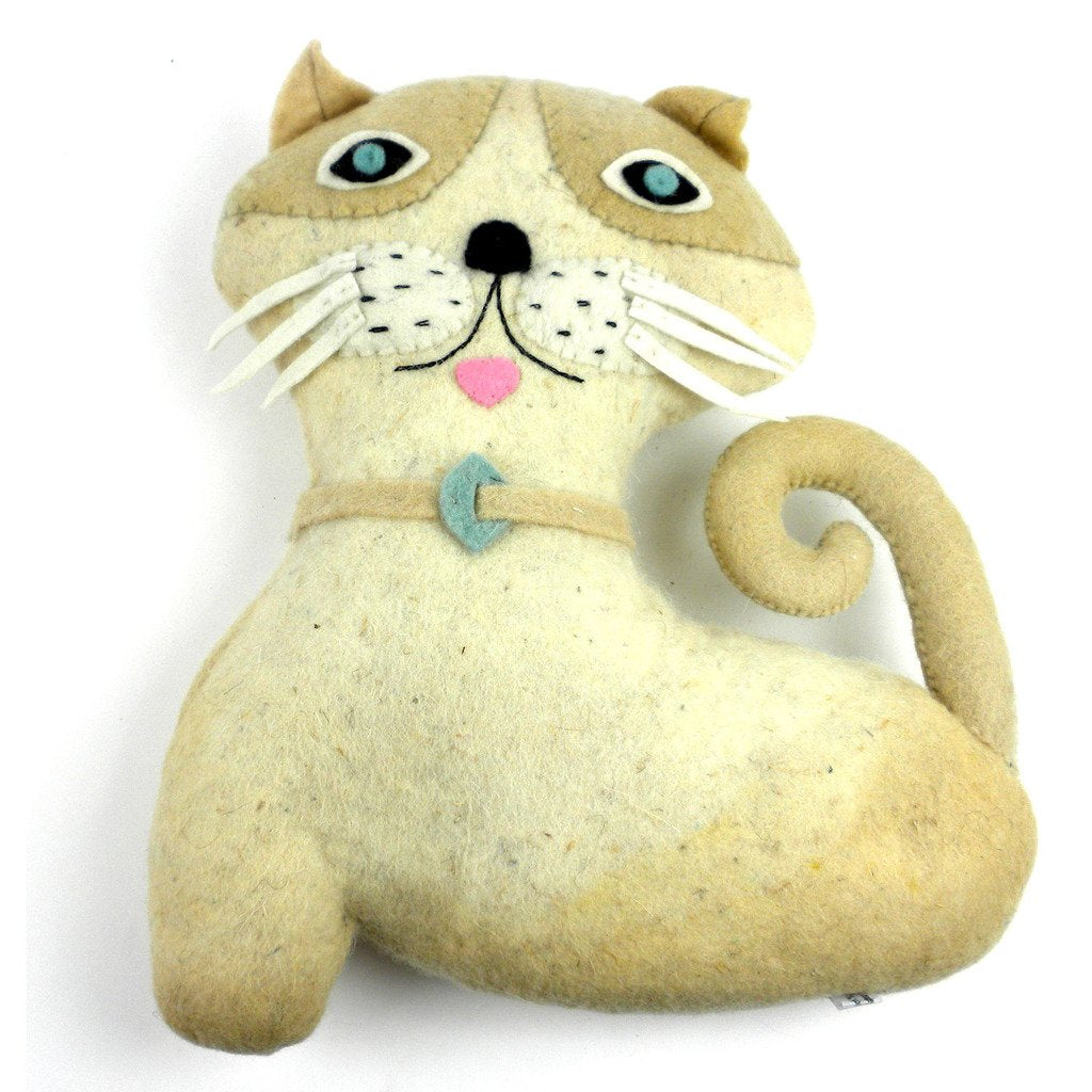 Felted Friends Cat Handmade and Fair Trade
