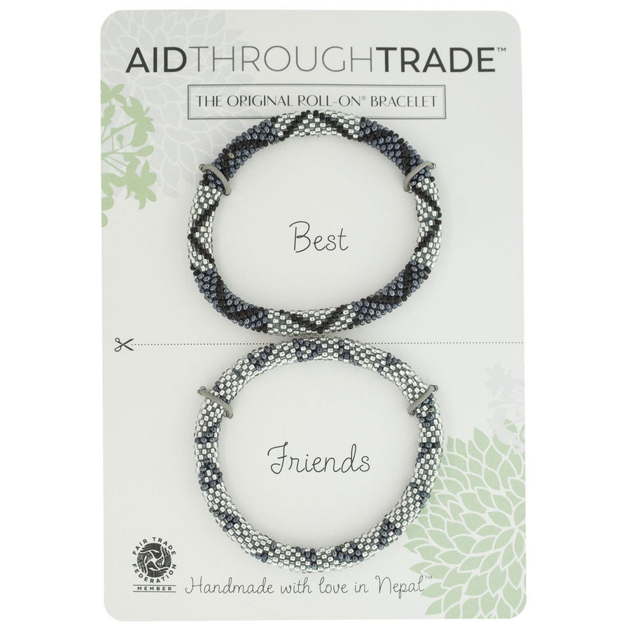 Roll-On Friendship Bracelets - Slate - Aid Through Trade